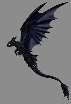 HTTYD - Night Fury by Scatha-the-Worm ~ pinned for my mum one of her favorite dragons