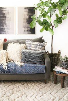 comfy boho living room