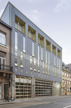 EQUITONE facade panels. Fire station in Antwerp. #architecture #material #facade www.equitone.com