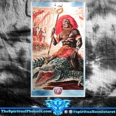 Today's Shaman Tarot Card!  King of Bones ( King of Wands)  Spirit of Father Crocodile - A man who cherishes tradition, family life, balance among various factions, low sensitivity.  If viewed as the King of Wands.  King of Wands:  Wands: The element of Fire; Instinct, travel and communication  Wands/Fire: I desire - The Soul  Kings: Air  Air: I think - The Mind  Key Meaning: An honorable man  As a person:  The King of Wands is a man of the world, and it's likely that he has traveled widely…