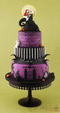 Jack and Sally wedding cake!
