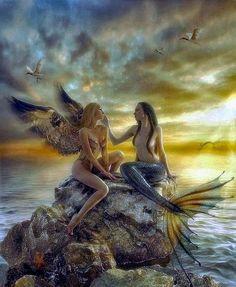 Fairy and Mermaid