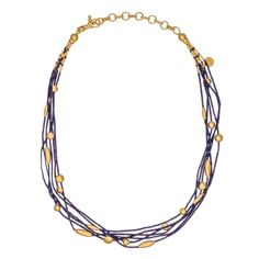 Gurhan 24K Gold Phoenician Necklace With Lapis featured in vente-privee.com