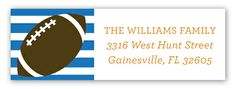 Stripes Football Tailgate Address Label