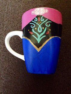 Princess Disney Anna Frozen Princess costume inspired character coffee mug