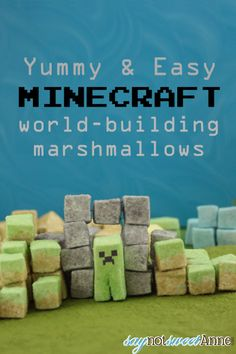 DIY Minecraft World Marshmallows! Make edible blocks of marshmallows in the style of Minecraft blocks! Kids will love to play with and then ...