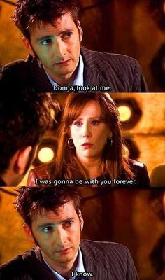 Poor Donna she saved the world but lost all her memories of her time with the doctor. Loved her as a companion, The Library is still one of my fave episodes  (and introduced River Rong).