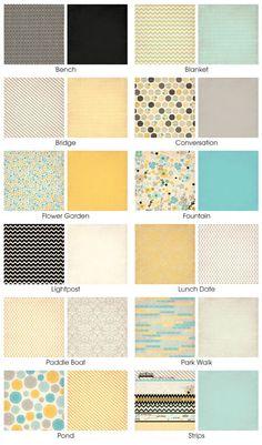 Fancy Pants Park Bench Colors/Patterns palette.
