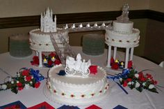 wedding cakes with fountains | Square Wedding Cakes With Fountains