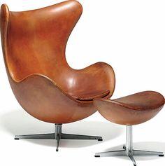 Arne Jacobsen - Ægget Chair Design, Furniture Design, By Lassen, Broste Copenhagen, Contemporary Chairs, Factory Design, Arne Jacobsen, Egg Chair, Leather Accessories