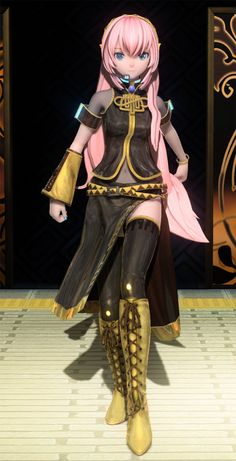 Megurine Luka// YES the best picture to see her full outfit :D