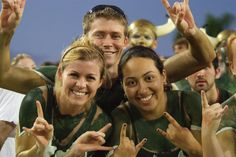 First started as a good luck symbol for basketball free-throw shots, the Bull Horns hand symbol is now used as the premier #USF cheering and greeting symbol.