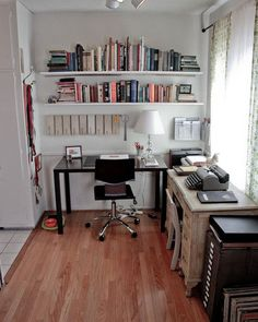 I wish my desk was that clean! via Apartment Therapy