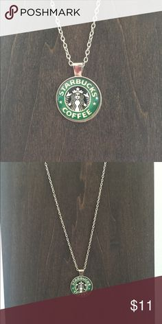 ☕️STARBUCKS GLASS NECKLACE☕️ Starbucks icon incased in glass strung on silver chain. A must have for any Starbucks lover! ☕️🍩❤️ Jewelry Necklaces