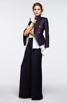 Olivia Palermo + Chelsea28 Poplin Peplum Shirt