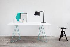 Tréteaux design pour bureau Diamond Green