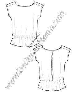 V8 Knit T-Shirt Tunic Template Free Illustrator Fashion Flat Sketch - free…