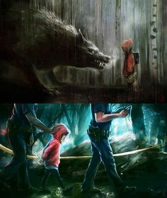 wolf pictures and jokes / funny pictures & best jokes: comics, images, video, humor, gif animation - i lol'd Dark Fantasy Art, Dark Art, Fantasy Creatures, Mythical Creatures, Art Sinistre, Arte Obscura, Art Anime, Creepy Art, Creepy Stuff