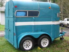 turquoise horse trailer | horse trailer 2 horse straight load $ 1500 wa older 2 horse straight ...