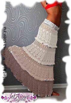 длинная юбка крючком
