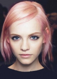 Q: Going Blonde? A: With a pink wash