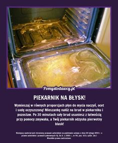 Oven Cleaning, Cleaning Hacks, Detox Your Home, Guter Rat, Dyi, Pinterest Projects, Diy Cleaners, Simple Life Hacks, Shabby