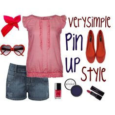 """Pin Up Style"" by verysimple-style on Polyvore"