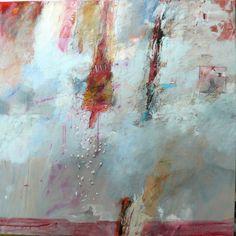 Ton Vroman. Duik in het ongewissen. Dit werk is uit de serie water. De titel geeft weer waar het schilderij over gaat.