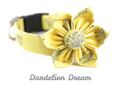 Hey, I found this really awesome Etsy listing at https://www.etsy.com/listing/184469087/yellow-dog-collar-and-flower-set