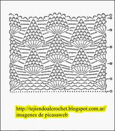 POINTS FOR KNITTING CROCHET, PUNTOS PARA TEJER A GANCHILLO Crochet Shawls And Wraps, Crochet Scarves, Knit Crochet, Crochet Stitches Patterns, Stitch Patterns, Pineapple Crochet, Blanket Stitch, Free Pattern, Knitting