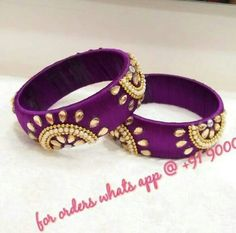 For reference only Silk Thread Bangles Design, Silk Bangles, Silk Thread Earrings, Thread Jewellery, Beaded Necklace Patterns, Jewelry Patterns, How To Make Earrings, Diy Earrings, Terracotta Jewellery Making