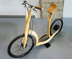 Bicicleta electrica de bambu
