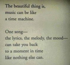 Nothing like music, what we listen to...