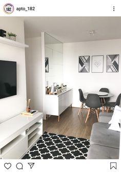 Home Room Design, Home Design Decor, Interior Design Living Room, Living Room Designs, Small Apartment Design, Small Apartment Decorating, Apartment Interior, Simple Apartment Decor, Small Apartment Living
