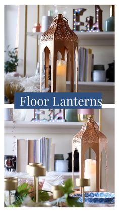 The perfect complement to our door décor and string light lanterns, these floor lanterns keep us inspired! Have you tried removing the acrylic panels for a more neutral look? #daysofeid