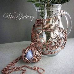My wire wrap #workshop #wire_jewelery #wireart  #wirewrap #wiregalaxy #copper #art #crafts #copper_art #insta_kyiv #insta_art #ukraine #uablog #my_kiev #mywork #myart #boho #bohostyle