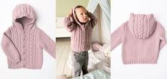 Knitting For Kids, Easy Knitting, Knitting Projects, Baby Born, Baby Cardigan, Drops Design, Dory, New Baby Products, Diy And Crafts