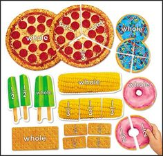Fractions using food