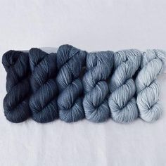 Gradient Set Six skeins of our Yummy 2-Ply Toes, dyed in a tonal gradient from...