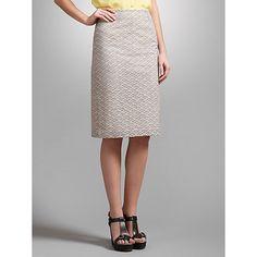 Buy Somerset by Alice Temperley Cutwork Skirt, Biscuit Online at johnlewis.com