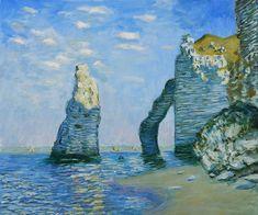 The Cliffs of Étretat, 1885 by Claude Monet