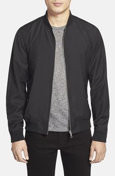 J. Lindeberg 'Thom 52' Reversible Bomber Jacket available at #Nordstrom