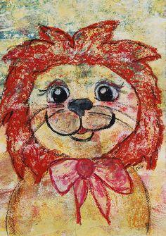 Kinderzimmerbild Löwe Original/Unikat A3 von LittleWalkingWolf auf etsy // Nursery painting Lion (original)