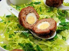 Tapa original - Receta Entrante : Huevos escoceses por MACUMANI