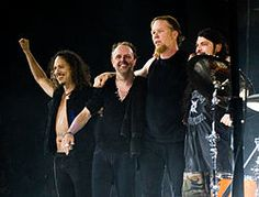 Metallica embracing and smiling onstage Wikipedia