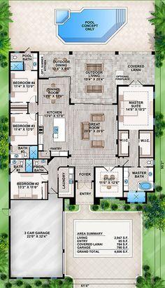 House Plan 207 00043 Coastal Plan 2947
