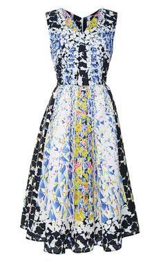 RH Printed Cloqué V-Neck Dress by Peter Pilotto - Moda Operandi