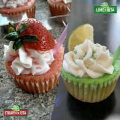 Lime a rita cupcakes Cupcake Recipes, Dessert Recipes, Desserts, Cupcake Ideas, Drink Recipes, Lime A Rita, Rita Recipe, Eat Dessert First, Sweet Treats