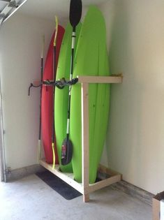 Garage Storage Pleasant Garage Kayak Storage Galleries: Handmade Kayak Storage R. Garage Storage P Garage Shed, Garage Room, Small Garage, Car Garage, Shed Storage, Canoe Storage, Storage Shelving, Kayak Garage Storage, Kayak Rack For Garage