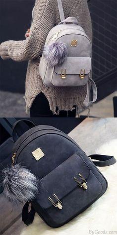 Details about  /Mochila de cuero para mujer bolso femenino bolso escolar A Dos